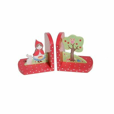 Wooden LITTLE RED RIDING HOOD Bookends by Sass & Belle