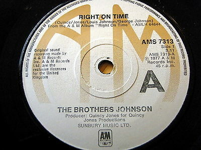 """The Brothers Johnson - Right On Time  7"""" Vinyl"""