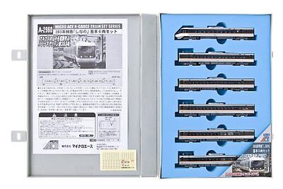 New N Gauge A2960 383 System Limited Express Shinano Basic 6-Car Set From Japan