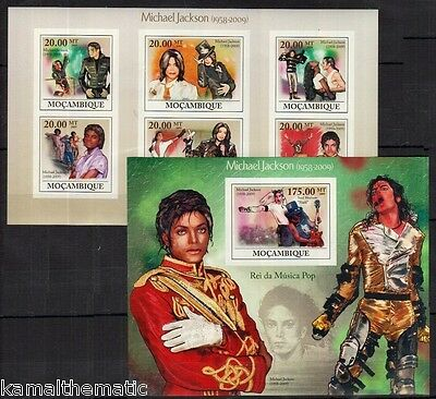 Micheal Jackson, Pop Music, Singer, Mozambique MNH MNH Imperf MS+SS  - Ma9