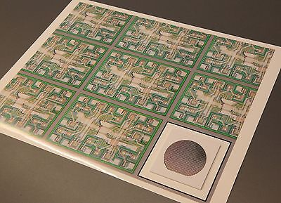 "ChipScapes - ""Making of a Logic Chip"" - Artwork with real computer chip"