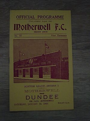 1959/60 Motherwell V Dundee