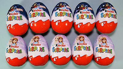KINDER Surprise EGGS - Character Sweets Chocolate & Toy - Disney Frozen/Marvel