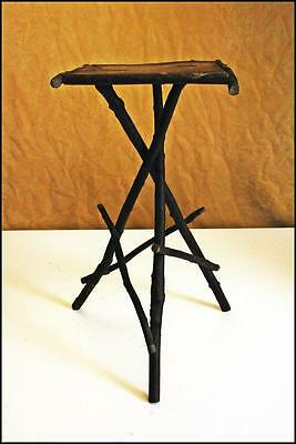 Vintage TWIG TABLE adirondack primitive wood rustic plant stand side stick real