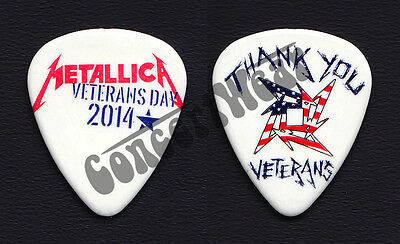 Metallica James Hetfield Veterans Day Concert For Valor Guitar Pick - 2014 Tour