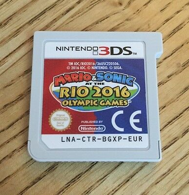 Mario and Sonic at the Rio 2016 Olympic Games Nintendo 3DS Game Kart. EU/UK