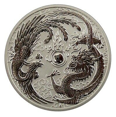 ++ Dragon & Phoenix 2017 - 1 Dollar - 1oz Ag - Perth Mint ++