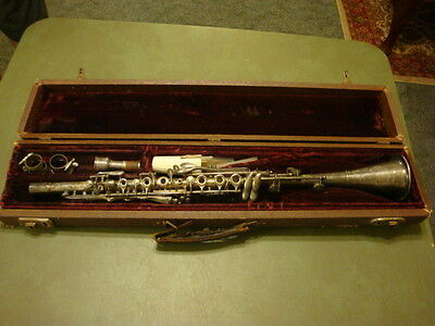 Vintage Silver Metal CLARINET By H N White Co Cleveland # XX 335 C
