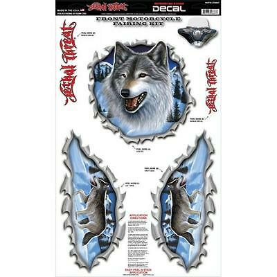 LETHAL THREAT Motorcycle Bike Front Fairing Sticker Set Decal WOLF KIT LT06664