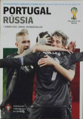 2013 WCQ Portugal V Russia Match Programme 07-06-13