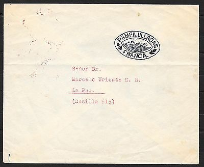 Bolivia covers 195? Provisional Handstamped cover PAMPA ULLACAS to La Paz