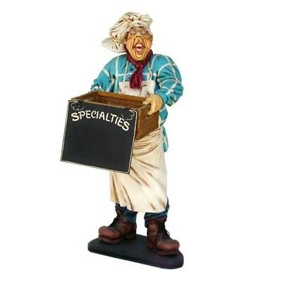 Baker Statue Life Size - Restaurant Display Prop - Butler Statue - Free Ship