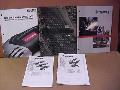 Assorted Metabo Manuals & Catalogs