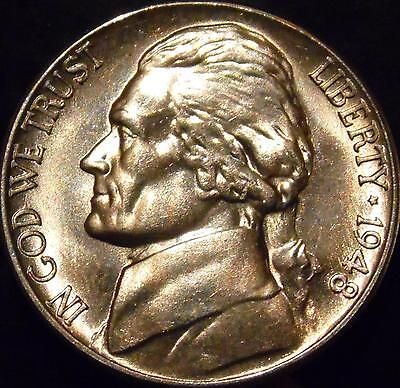 1948-S Jefferson Nickel Gem BU Uncirculated Full Steps