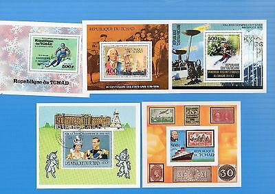 Chad. Five Different Mini Sheets.1976/79 Mnh/cto