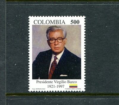 Colombia 1135, MNH, Famous People Pres Virgilio  Barco 1997. x23454