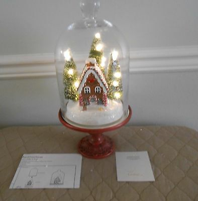 """Illuminated 13"""" Holiday Scenes Under Glass w/Mirror by Valerie GINGERBREAD $55"""