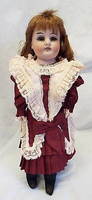 """Antique 13"""" REMPEL & BREITUNG Bisque Head Kid Leather Body DOLL w/ Clothes"""