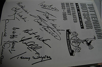 Tottenham Hotspur Illustrated History 1882-1995 Signed By 7 Double Winners