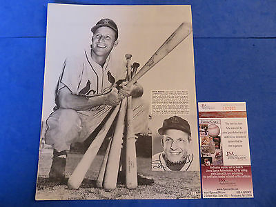 Multi-Signed Magazine Page - 2 Autographs ~ Jsa I87592 ~ Stan Musial