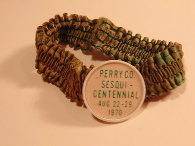 Vintage green garter from 1970 Perry County, PA sesquicentennial