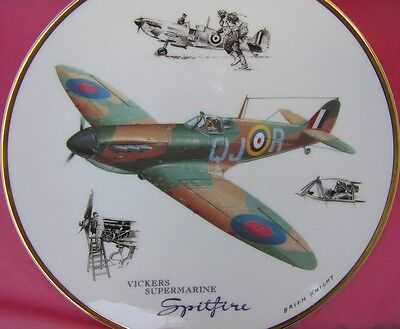 Doulton Vickers Supermarine Spitfire Plate Legends Of The Sky Brian Knight Boxed