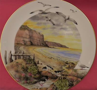 Royal Worcester February On The Coast Plate Peter Barrett Seashore Seagulls