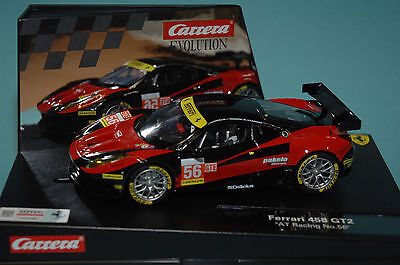 Carrera Evolution 27511 Ferrari 458 GT2 AT Racing #56 1:32 NEU