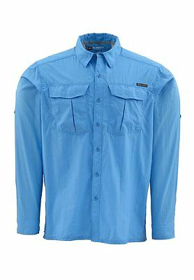 Simms CLINCH Long Sleeve Shirt ~ Cornflower NEW ~ Closeout Size Large