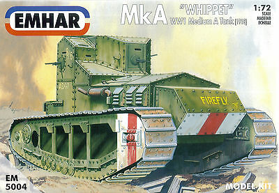 Emhar 1/72 (20mm) British Mk A Whippet' WWI Medium Tank