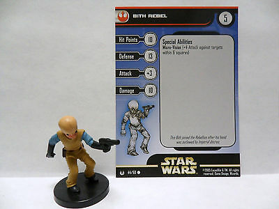 Bith Rebel,Star Wars 44 /60 Universe  Star Wars Miniatures Bith Rebel