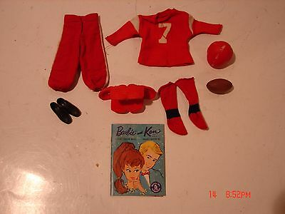 Vintage Barbie Ken Doll Clothing Outfit #799 Football Touchdown Sports Shoes