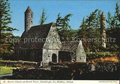 72437836 Glendalough St Kevins Church and Round Tower Wicklow Mountains