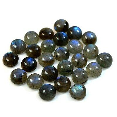 1Pc Natural Labradorite Round Blue Sheen (10 mm) Cabochon