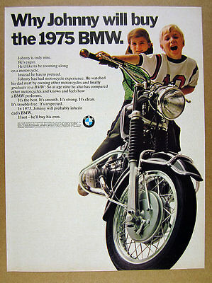 1968 BMW R-Series Motorcycle 'Why Johnny will buy' color photo vintage print Ad