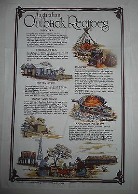 Kitchen TEA TOWEL New AUSTRALIAN OUTBACK RECIPES Design Hand Cloth Cooking