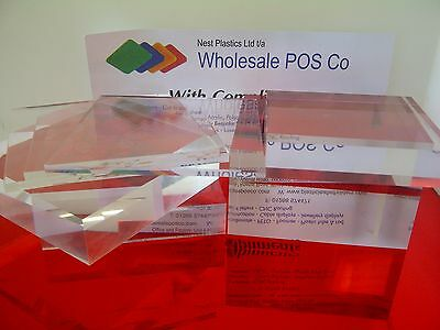A5-A4-A3 Sheets Perspex Clear Acrylic With Diamond Polished Edge 2 To 50Mm Thick