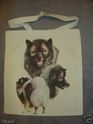Keeshond Dogs On  A Tote Canvas Bag
