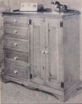Early American Chest of Drawers w/Doors How-To build PLANS