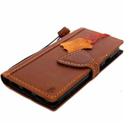 Genuine real leather case for Google Pixel book wallet cover slim magnet vintage