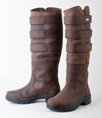 RHINEGOLD ELITE COLORADO LEATHER COUNTRY BOOTS  brown  ADJUST EITHER WAY BY 3""