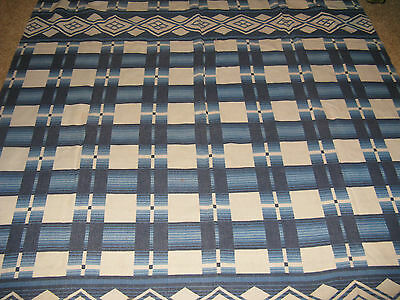 Vintage Cotton Campfire Blanket Nice blue & white lodge cabin look