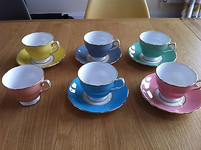 Fine China Harlequin Tea Set - Colclough. One Piece Missing