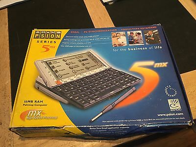 Psion Series 5MX Palmtop Computer Boxed & All Paperwork