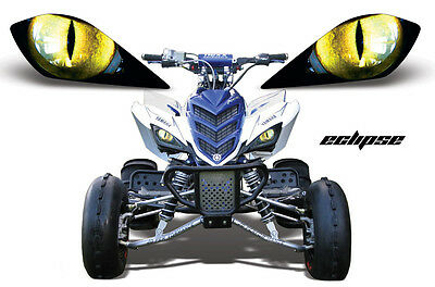 Amr Head Light Graphic Decal Cover Yamaha Raptor 700/350 Yfz450 Parts - Eclipse