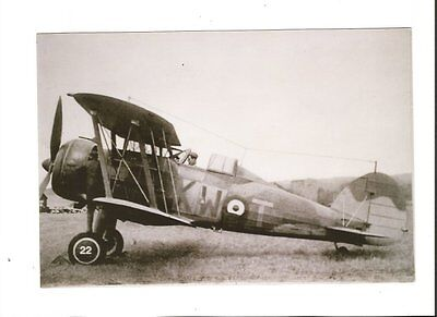 PHOTO AVION AIRCRAFT  Gloster Gladiator. RAF