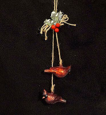 Mercury Glass Red Bird Cardinal Christmas Tree Ornament By North Pole Trading Co