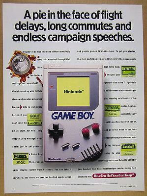 1992 Nintendo GAME BOY video game color photo vintage print Ad