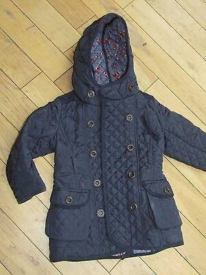 NEXT NAVY BLUE QUILTED COAT - Age 3 / 4 Years