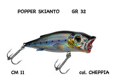 SKIANTO POPPER ARTIFICIALE SALTWATER 32 GR COL CHEPPIA 110mm